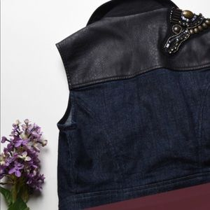 Vera Wang Jackets & Coats - Princess Vera wang dark denim biker vest